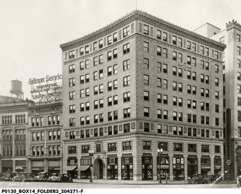 Skiles Test's father, Charles, was a successful Indianapolis businessman. The Test building downtown bears his man. photo: Indianapolis Historical Society, W.H. Bass Photo Collection