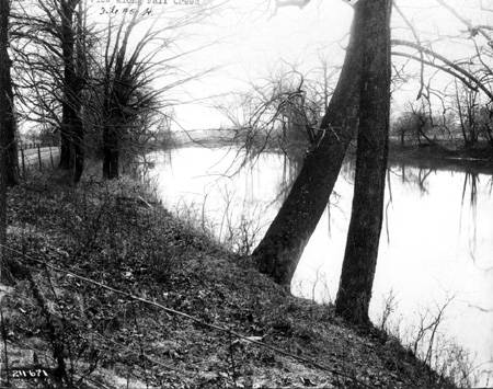 Fall Creek is as beautiful today as it was in 1911. photo: Indianapolis Historical Society, W. H. Bass Collection