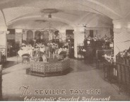 This postcard from the 1930's shows the interior that became the King Cole (courtesty ebay)