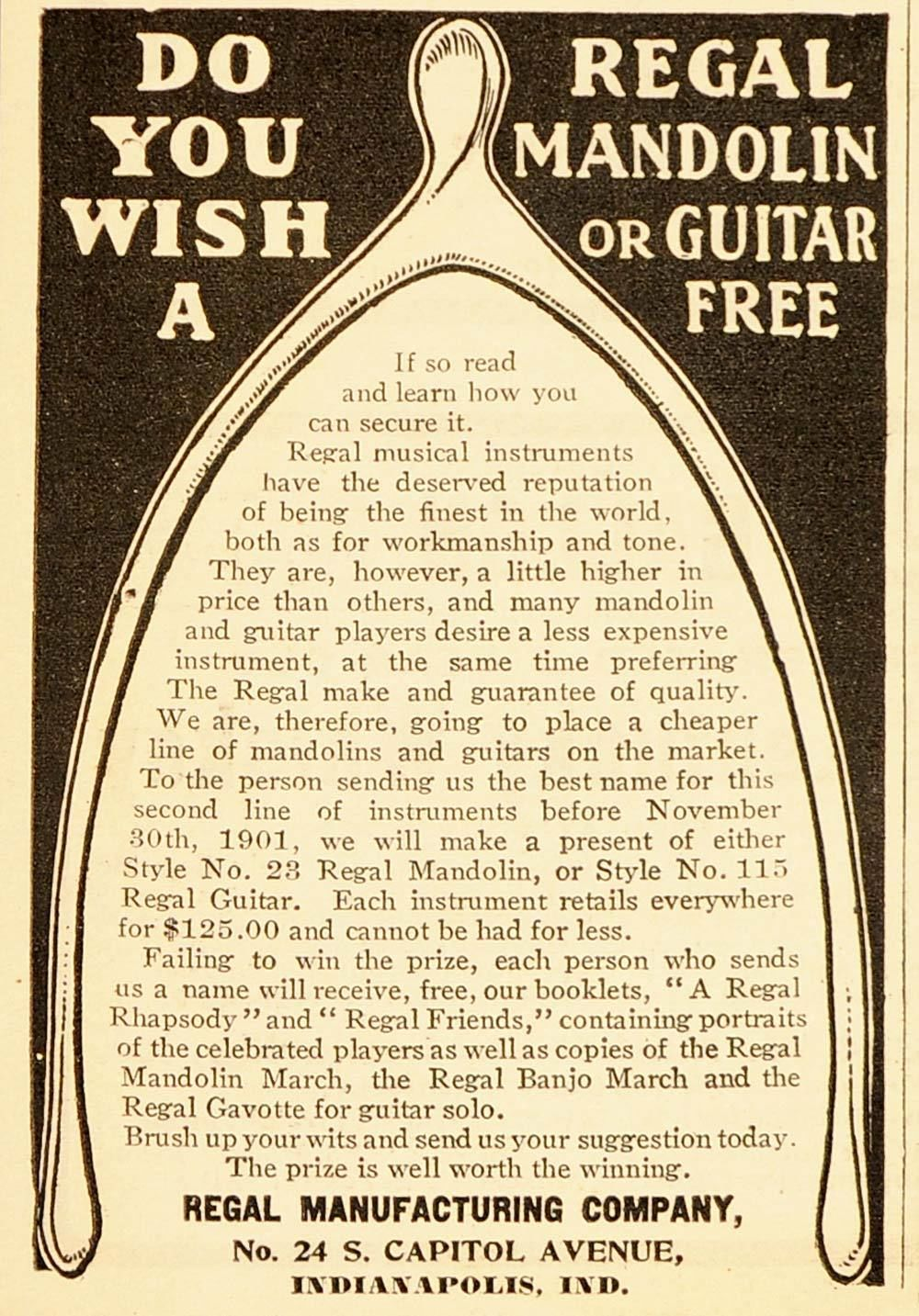 Sunday Adverts: Long gone Regal Guitar Mfg. STILL has the perfect gift for you!