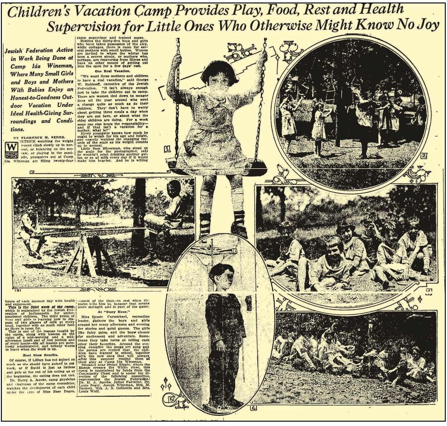 Indianapolis Collected: Camp Ida Wineman