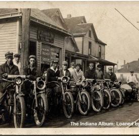 James W Kern's Bicycle Repair Shop, ca. 1920 (The Indiana Album: Loaned by Nancy Netter)
