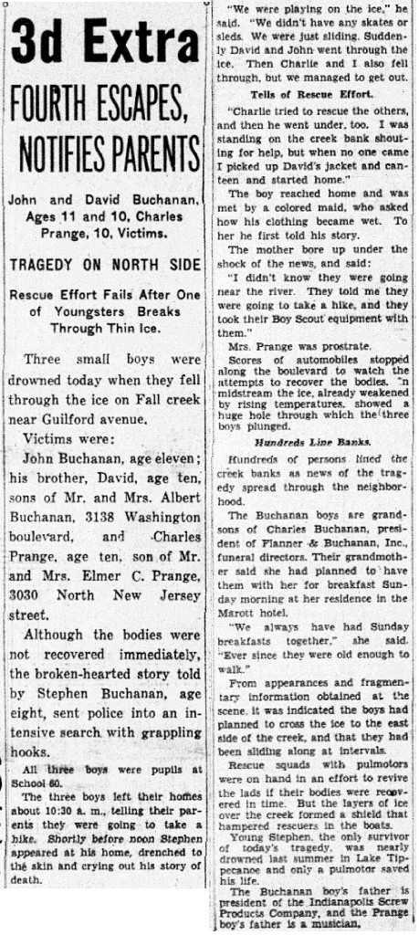 (January 11, 1936 Indianapolis News scan courtesy of the Indianapolis Public Library)