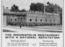 A promotional add showing how the restaurant appeared in 1957. It had yet to sprout a second story (Courtesy Indiana State Library)
