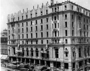 This photograph from 1904 shows the hotel under construction (courtesy Bass Photo Company Collection, Indiana Historical Society)