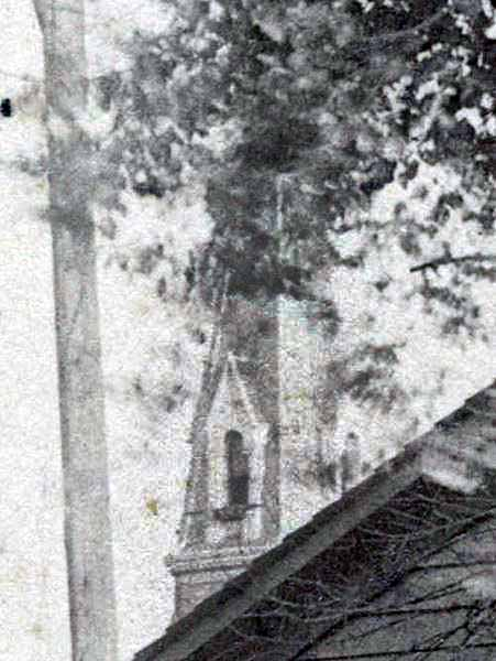 Enhanced detail of a steeple in the background (Indiana Historical Society, Collection P482)