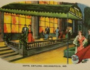This 1940 Postcard shows a swanky crowd arriving at The Hotel Antlers (Courtesy eBay)