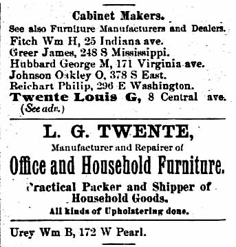 1890 Polk's Indianapolis City Directory, p. 838