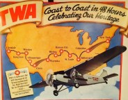 """This ad shows the cross-country """"air service"""" that began stopping in Indianapolis in 1929 (Courtesy eBay)"""