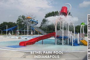 The Bethel Park Pool gets many visitors in the warm summer months.