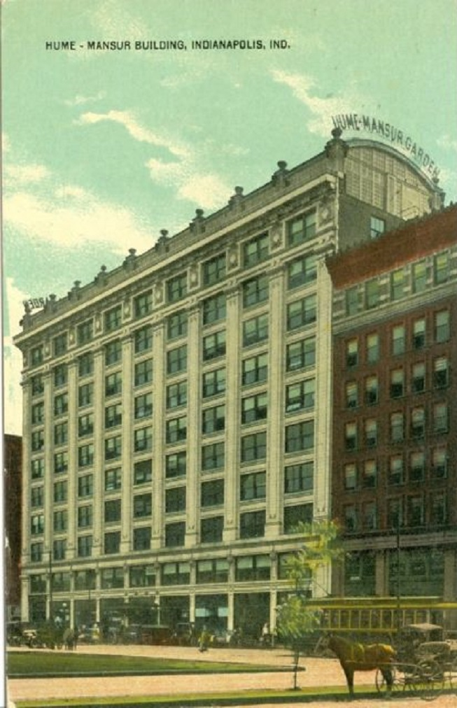 The Hume-Mansur Building stood on the site of the brief 1907 dust-up until 1980 (Courtesy eBay)
