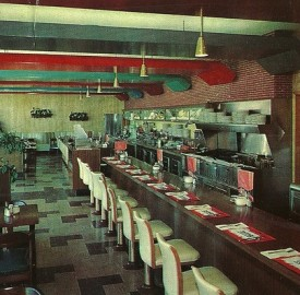 The interior of a Huddle restaurant awaiting eager diners (Courtesy Evan Finch)