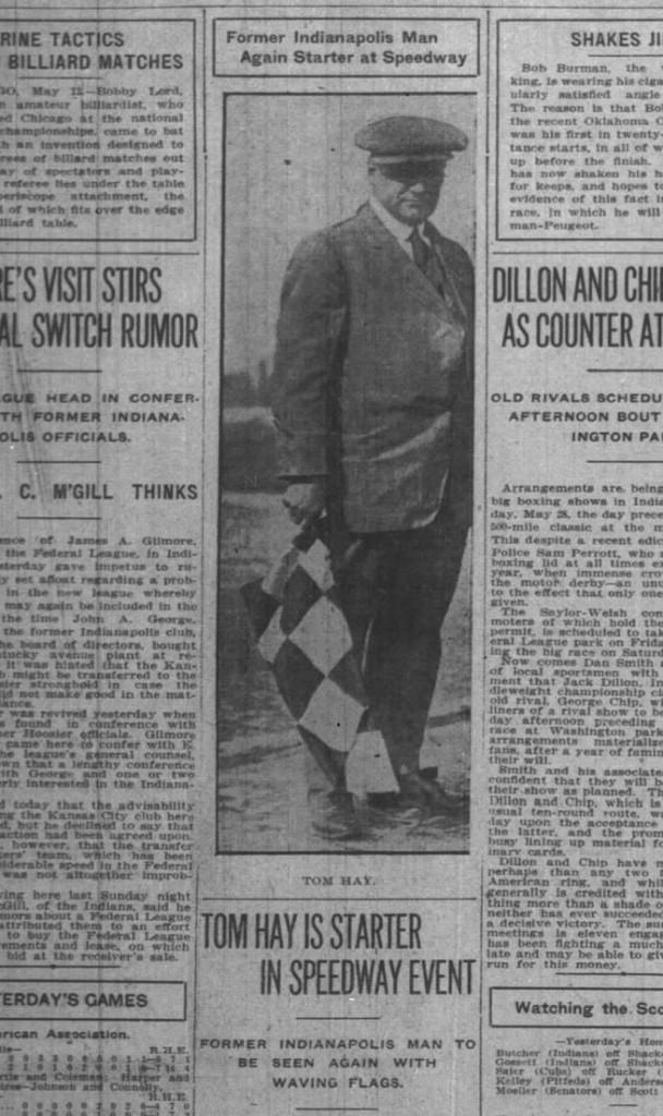 Tom Hay - Indianapolis News May 12, 1915