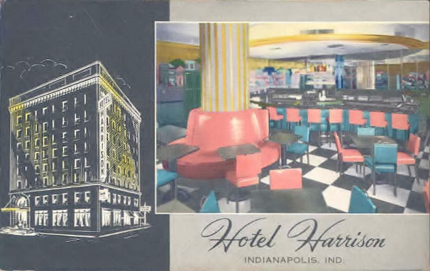 "The Harrison lounge, known as ""The Creole Room"" was furnished in the Art Deco style (Courtesy ebay)"