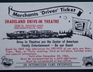 This ticket advertises a two-for-one deal for the Shadeland Drive-in (Courtesy eBay)