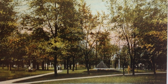 This is how Military Park, the first Fairgrounds appeared in 1910 (Courtesy Indiana State Library)