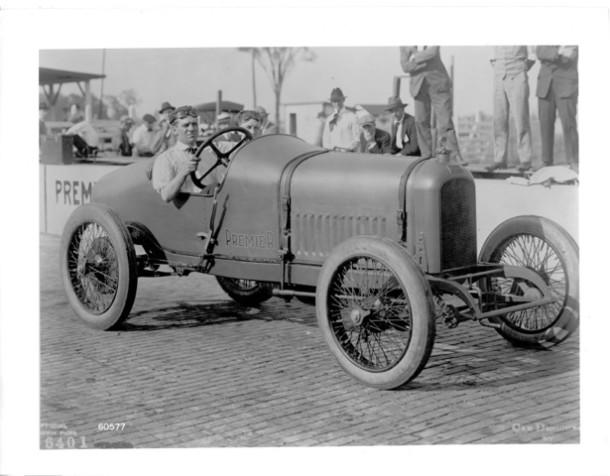 1916 Premier Tom Rooney at wheel