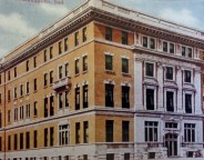This postcard depicts the actual YMCA facility that was constructed at Illinois and New York Streets (Courtesy Indiana State Library)
