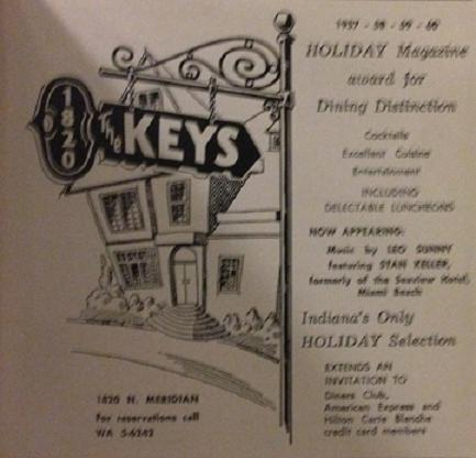 The Key's was a popular piano bar on the strip along Meridian (Courtesy Indiana State Library)