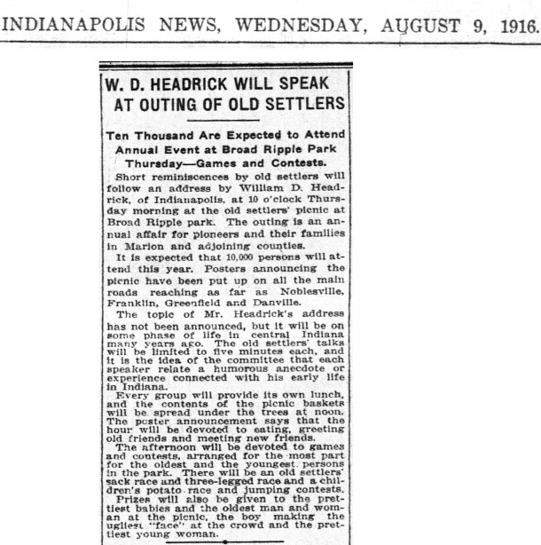 (1916 Indianapolis News scan courtesy of newspapers.com) CLICK TO ENLARGE