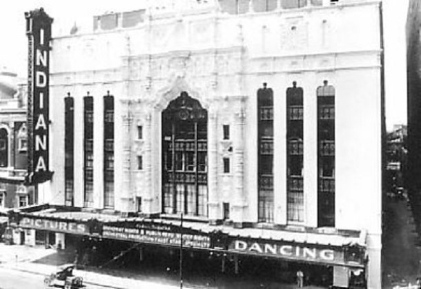 The Indiana Theater as it appeared in 1925, long before the hauntings began some seventy years later (Courtesy Indiana Department of Natural Resources)