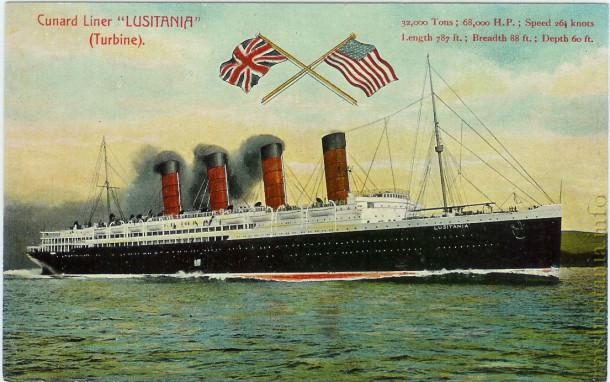 Lusitania postcard