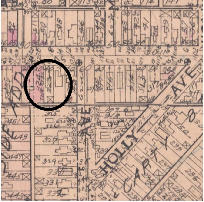 This Baist Atlas from 1927 shows the theater in pink. Notice that the land north of Oliver Avenue has not been cleared for the General Motors Plant.