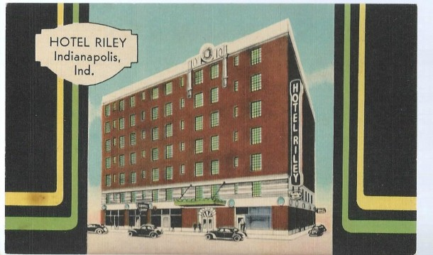 A postcard showing the large presence of the former Hotel Riley (Courtesy eBay)