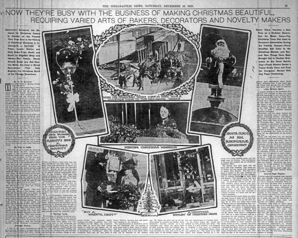 December 18, 1915 clipping from The Indianapolis News courtesy of newspapers.com