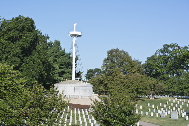 Arlington National Cemetery burial site of casualties of the USS Maine explosion  (courtesy of )