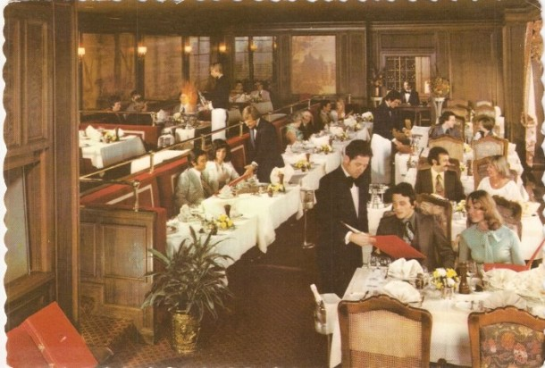 The La Tour dining room in all of its swanky seventies glory (Courtesy eBay)