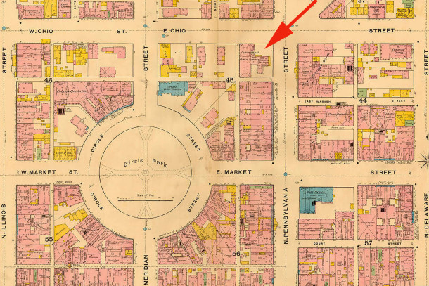 (1887 Sanborn map courtesy of IUPUI Digital Archives)