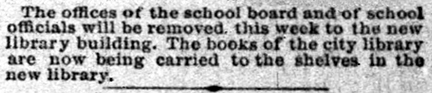 August 21, 1893 clipping from The Indianapolis StarNews