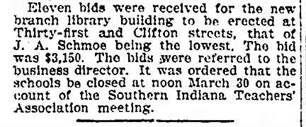 March 14, 1906 clipping inThe Indianapolis Star