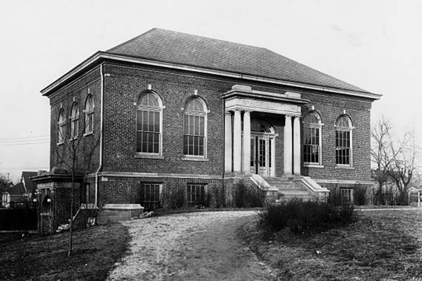 Indianapolis Public Library Branch #4 (Wm. H. Bass Photo Company Collection, courtesy of the Indiana Historical Society)