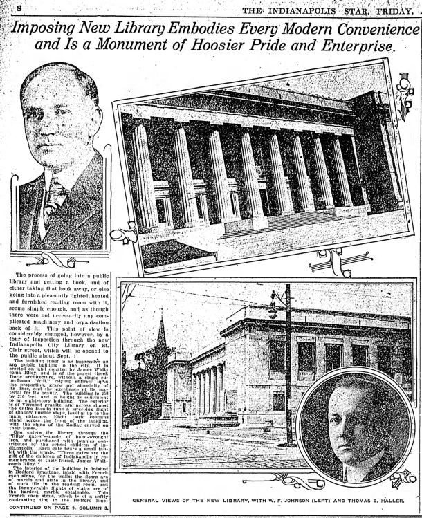 August 10, 1917 article in The Indianapolis Star