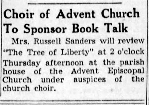 November 12, 1939 Indianapolis Star