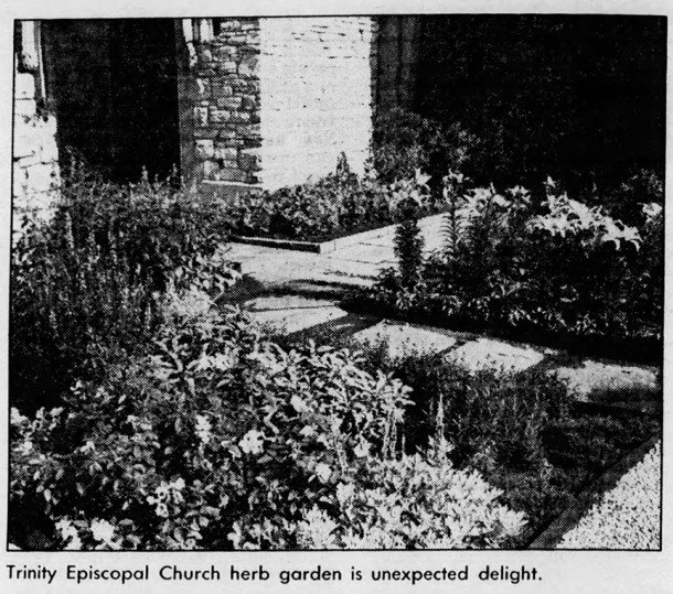 1986 Indianapolis Star photo of Trinity's garden