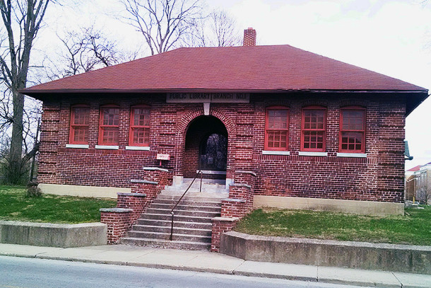 The former IPL Branch #1 building at 3101 North Clifton Avenue still stands today (2016 photo by Sharon Butsch Freeland)