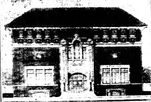 1913 newspaper announcement of new clubhouse