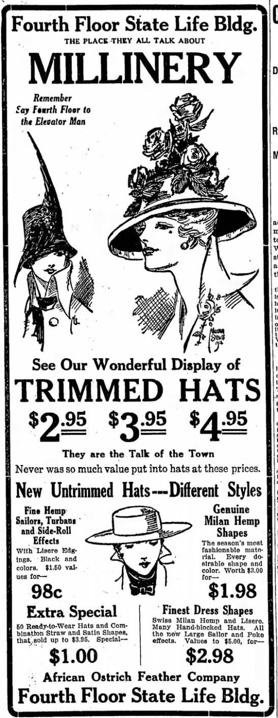 Sunday Adverts: Mad for Millinery