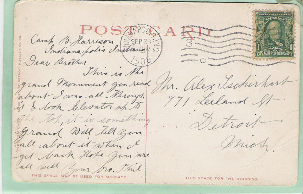 Postmark: September 24th 1908