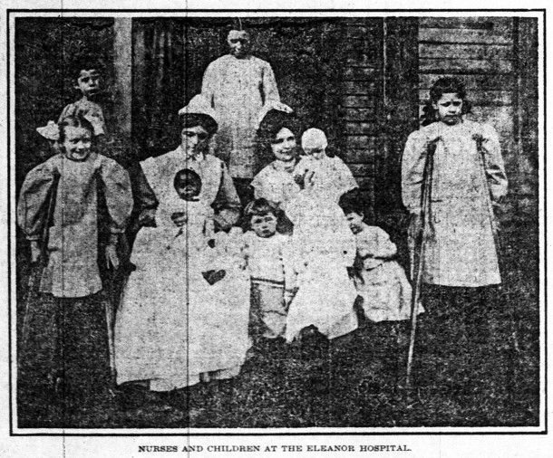 Eleanor Hospital for Children was located at 1802 N. Capitol Avenue from 1895 to 1909 (clipping courtesy of The Indianapolis Star)