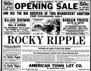 This 1916 ad advertises acreage in a new development called Rocky Ripple (Courtesy Indiana State Museum)