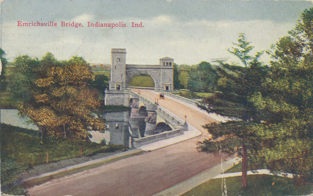 Emrichsville Bridge (image: http://www.digitalindy.org/cdm/compoundobject/collection/postcard/id/8/rec/12)