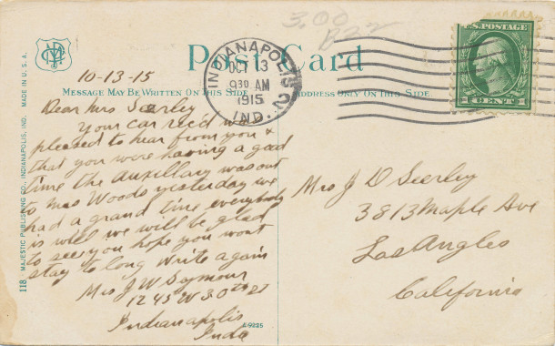 Postmarked October 13th, 1915