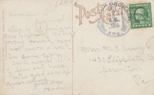 Postmark October 7th 1916