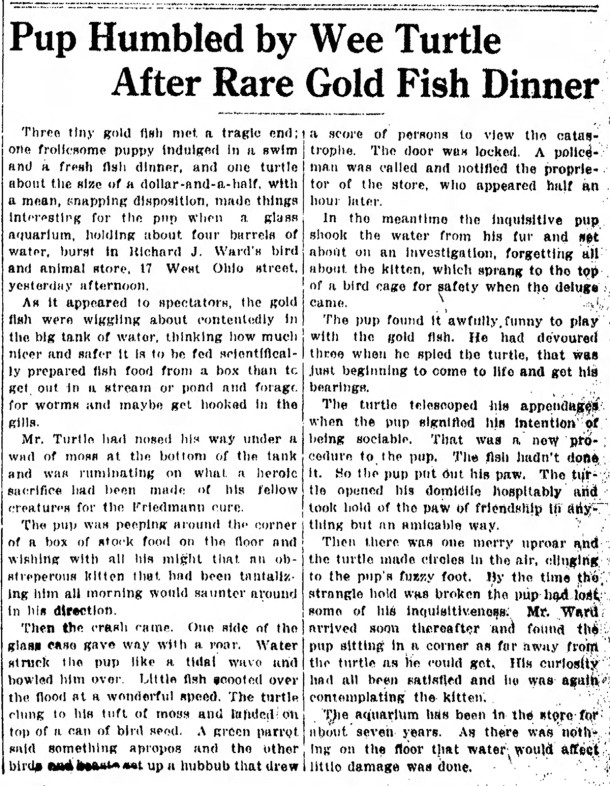 May 26, 1913 Indianapolis Star article