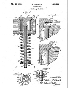 The Boyle Engine Valve Company received a patent in 1934  (courtesy of Google Books)   CLICK TO ENLARGE