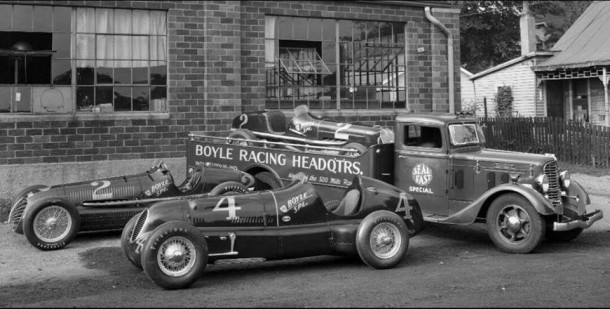 Boyle Racing Headquarters was located at 1701 Gent Avenue  (photo courtesy of the Indianapolis Motor Speedway)